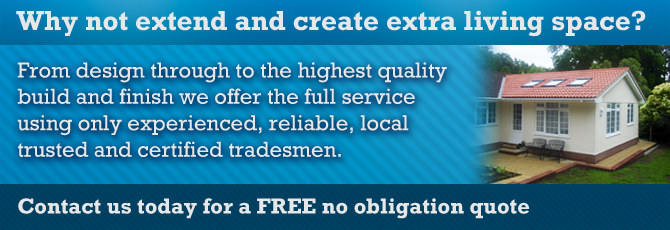 Extensions from Wightman Builders, your Ottery St Mary based builder working in Devon and in and around the Exeter area.